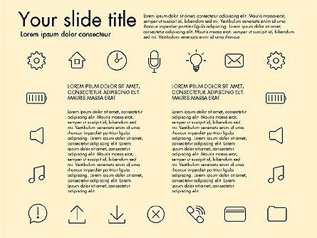 Thin Line Icons, Slide 16, 03192, Icons — PoweredTemplate.com