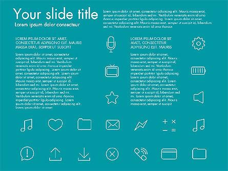Thin Line Icons Slide 4