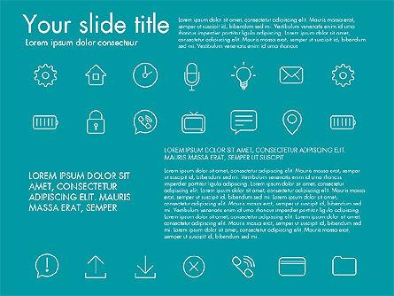 Thin Line Icons, Slide 5, 03192, Icons — PoweredTemplate.com