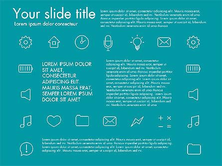 Thin Line Icons, Slide 7, 03192, Icons — PoweredTemplate.com