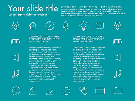 Thin Line Icons, Slide 8, 03192, Icons — PoweredTemplate.com