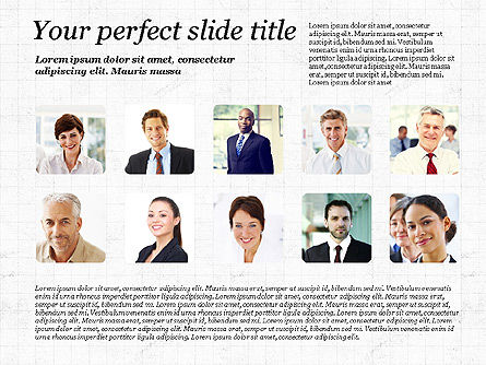 Presentation Templates: Business Team Presentation with Photos #03197