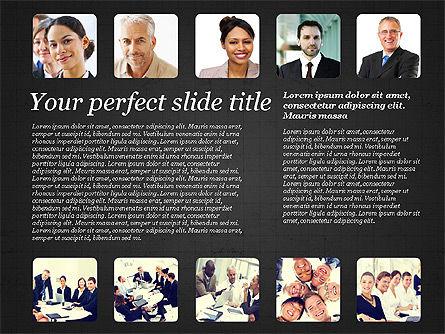 Business Team Presentation with Photos, Slide 10, 03197, Presentation Templates — PoweredTemplate.com