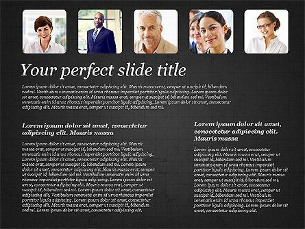 Business Team Presentation with Photos, Slide 11, 03197, Presentation Templates — PoweredTemplate.com