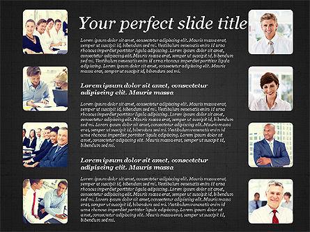 Business Team Presentation with Photos, Slide 12, 03197, Presentation Templates — PoweredTemplate.com
