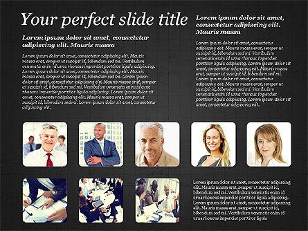 Business Team Presentation with Photos, Slide 13, 03197, Presentation Templates — PoweredTemplate.com
