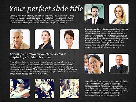 Business Team Presentation with Photos, Slide 14, 03197, Presentation Templates — PoweredTemplate.com