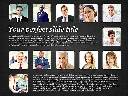 Business Team Presentation with Photos, Slide 15, 03197, Presentation Templates — PoweredTemplate.com