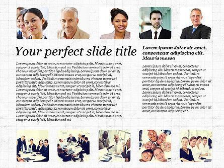 Business Team Presentation with Photos, Slide 2, 03197, Presentation Templates — PoweredTemplate.com