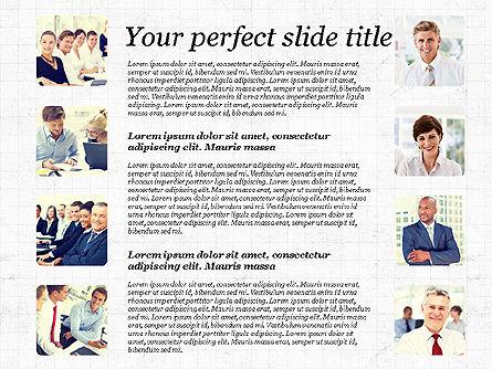 Business Team Presentation with Photos, Slide 4, 03197, Presentation Templates — PoweredTemplate.com