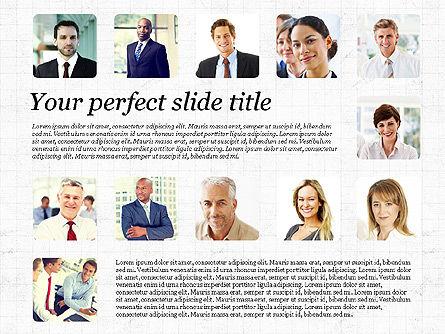Business Team Presentation with Photos, Slide 7, 03197, Presentation Templates — PoweredTemplate.com
