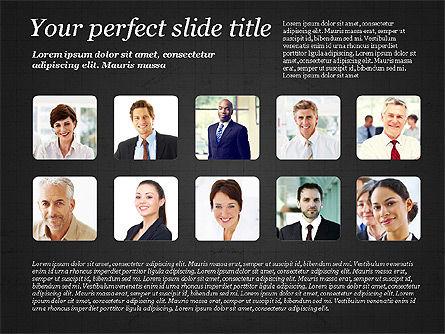 Business Team Presentation with Photos, Slide 9, 03197, Presentation Templates — PoweredTemplate.com