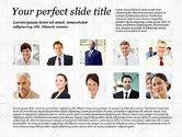 Presentation Templates: Business Team Presentation with Photos #03197