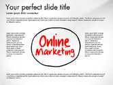 Business Models: Online Marketing Org Diagram #03198