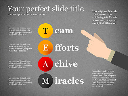 Team Crossword Presentation Concept, Slide 10, 03199, Presentation Templates — PoweredTemplate.com