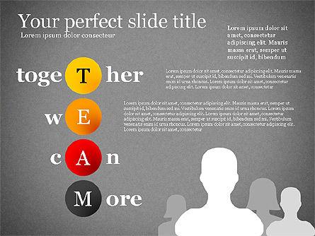 Team Crossword Presentation Concept, Slide 11, 03199, Presentation Templates — PoweredTemplate.com