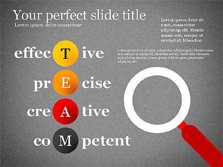 Team Crossword Presentation Concept, Slide 12, 03199, Presentation Templates — PoweredTemplate.com