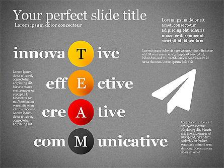 Team Crossword Presentation Concept, Slide 13, 03199, Presentation Templates — PoweredTemplate.com