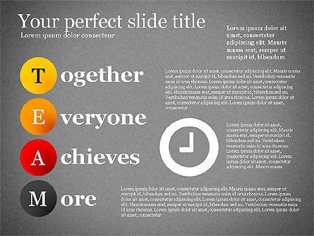Team Crossword Presentation Concept, Slide 14, 03199, Presentation Templates — PoweredTemplate.com