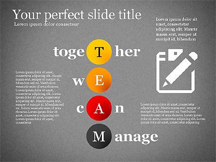 Team Crossword Presentation Concept, Slide 15, 03199, Presentation Templates — PoweredTemplate.com