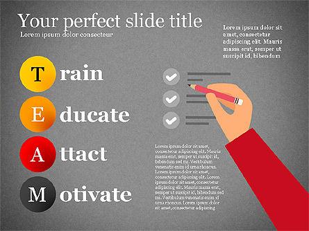 Team Crossword Presentation Concept, Slide 16, 03199, Presentation Templates — PoweredTemplate.com