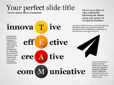 Team Crossword Presentation Concept, Slide 5, 03199, Presentation Templates — PoweredTemplate.com