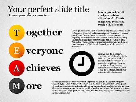 Team Crossword Presentation Concept, Slide 6, 03199, Presentation Templates — PoweredTemplate.com