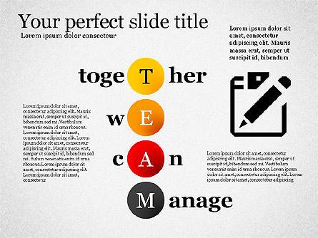 Team Crossword Presentation Concept, Slide 7, 03199, Presentation Templates — PoweredTemplate.com