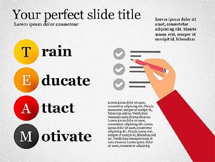 Team Crossword Presentation Concept, Slide 8, 03199, Presentation Templates — PoweredTemplate.com