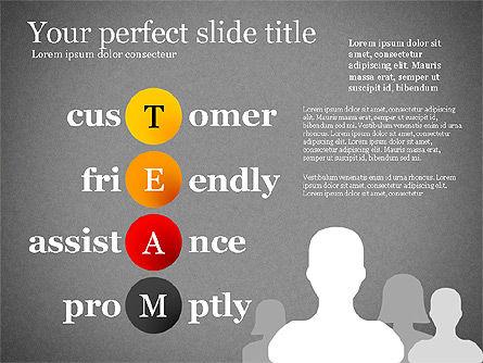 Team Crossword Presentation Concept, Slide 9, 03199, Presentation Templates — PoweredTemplate.com