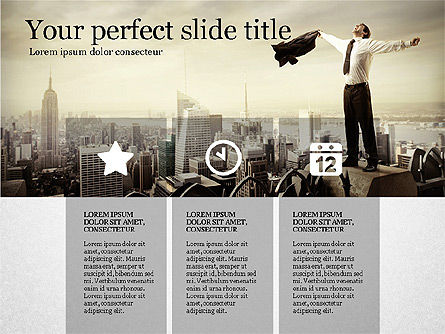 Gray Business Presentation Template, 03201, Presentation Templates — PoweredTemplate.com