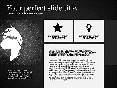 Gray Business Presentation Template, Slide 12, 03201, Presentation Templates — PoweredTemplate.com