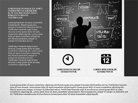 Gray Business Presentation Template, Slide 2, 03201, Presentation Templates — PoweredTemplate.com