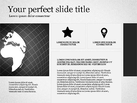 Gray Business Presentation Template, Slide 4, 03201, Presentation Templates — PoweredTemplate.com
