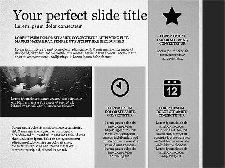 Gray Business Presentation Template, Slide 5, 03201, Presentation Templates — PoweredTemplate.com
