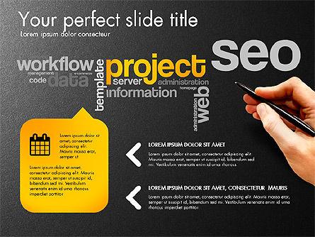 Content Manager Presentation Concept, Slide 10, 03203, Presentation Templates — PoweredTemplate.com