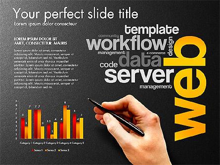 Content Manager Presentation Concept, Slide 13, 03203, Presentation Templates — PoweredTemplate.com