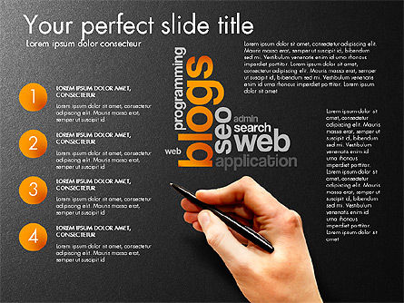 Content Manager Presentation Concept, Slide 15, 03203, Presentation Templates — PoweredTemplate.com