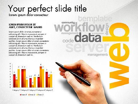 Content Manager Presentation Concept, Slide 5, 03203, Presentation Templates — PoweredTemplate.com