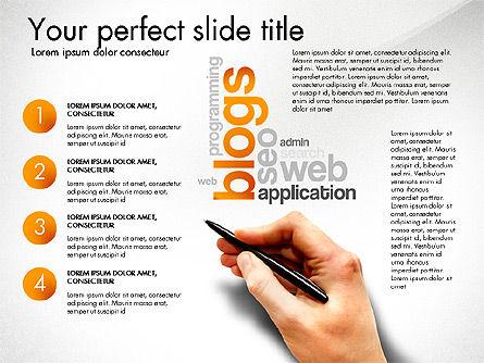 Content Manager Presentation Concept, Slide 7, 03203, Presentation Templates — PoweredTemplate.com