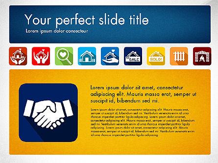 Real Estate Presentation Concept with Material Design Icons, Slide 3, 03206, Icons — PoweredTemplate.com