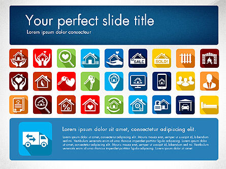 Real Estate Presentation Concept with Material Design Icons, Slide 4, 03206, Icons — PoweredTemplate.com
