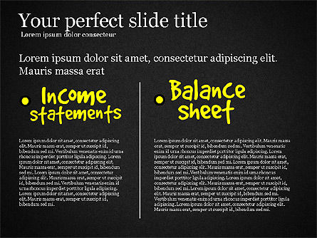 Diagram Of Financial Statement, Slide 13, 03207, Business Models — PoweredTemplate.com