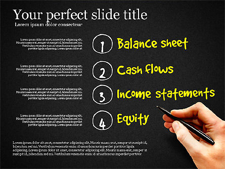 Diagram Of Financial Statement, Slide 15, 03207, Business Models — PoweredTemplate.com