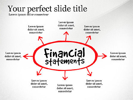Diagram Of Financial Statement, Slide 3, 03207, Business Models — PoweredTemplate.com