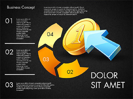 Financial Process Stages and Options, Slide 11, 03209, Process Diagrams — PoweredTemplate.com