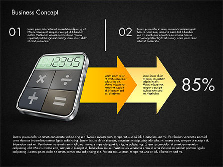 Financial Process Stages and Options, Slide 12, 03209, Process Diagrams — PoweredTemplate.com