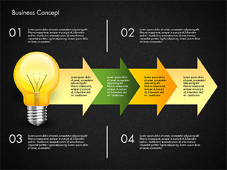 Financial Process Stages and Options, Slide 13, 03209, Process Diagrams — PoweredTemplate.com