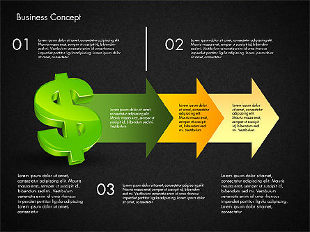 Financial Process Stages and Options, Slide 15, 03209, Process Diagrams — PoweredTemplate.com