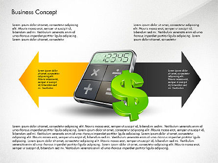 Financial Process Stages and Options, Slide 2, 03209, Process Diagrams — PoweredTemplate.com